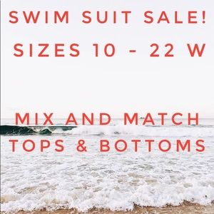 Plus size swimsuits top bottoms one piece